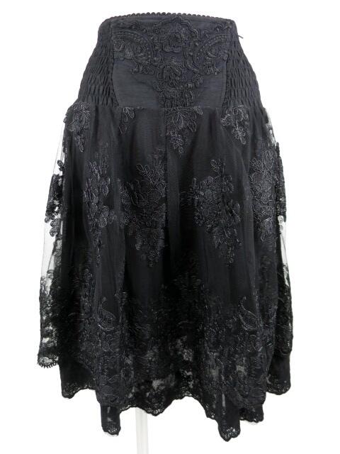 OZZ ONESTE 刺繍入りチュール重ね2wayスカート