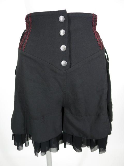 OZZ ONESTE 裾チュールフリル付きショートパンツ
