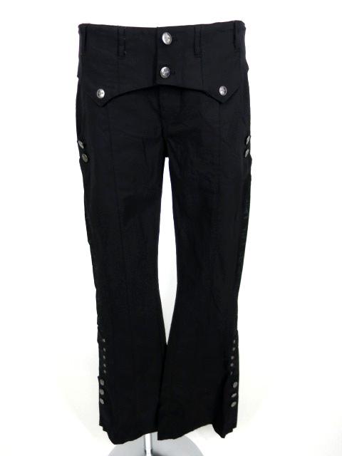 Ozz Croce 裾ボタン付きブーツカットパンツ