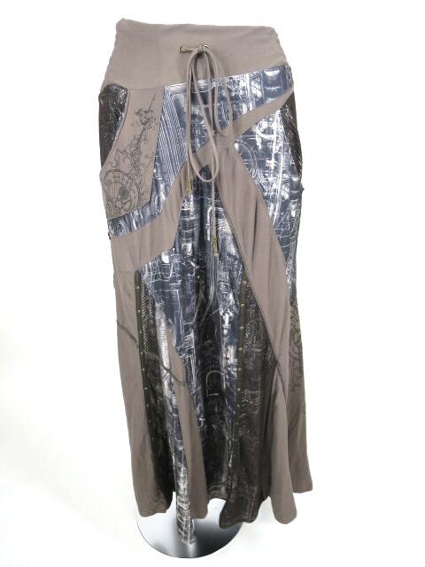 Ozz Croce サイバー柄ロングスカート