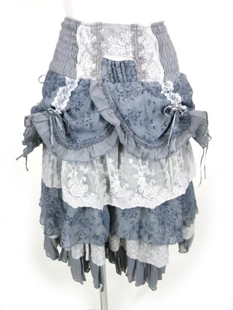 OZZ ONESTE 花柄プリントガーゼフリルスカート