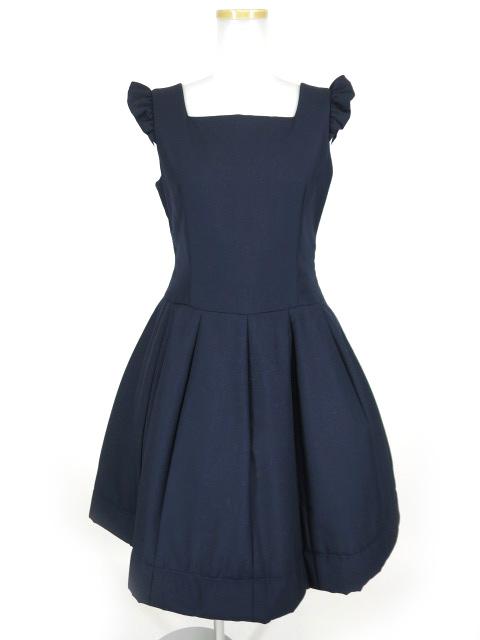 Jane Marple 肩フリル付きジャンパースカート