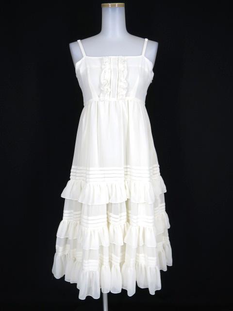 Victorian maiden シャーリングシフォンロングアンダードレス