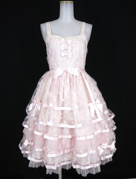 BABY, THE STARS SHINE BRIGHT Ribbonオーガンジージャンパースカート