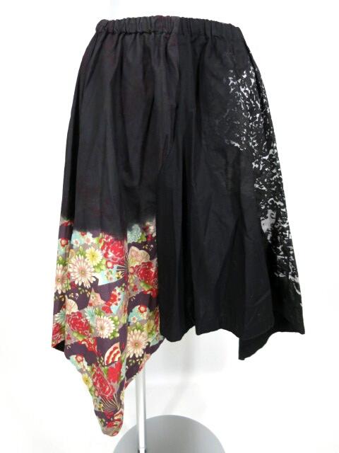 gouk 後染め和柄切替スカート