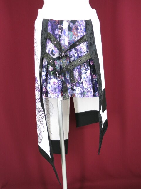 Qutie Frash 和柄プリーツレイヤードロングスカート