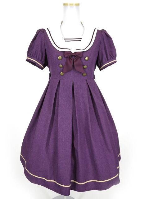 Innocent World 半袖衿刺繍セーラーワンピース