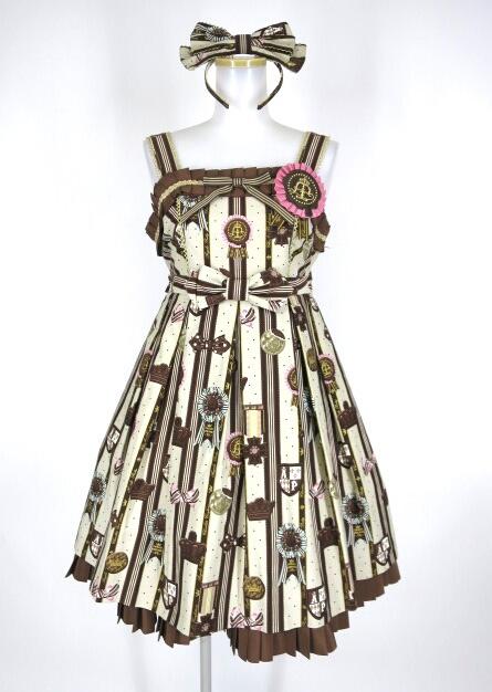 Angelic Pretty Chocolate Rosetteジャンパースカート&カチューシャ