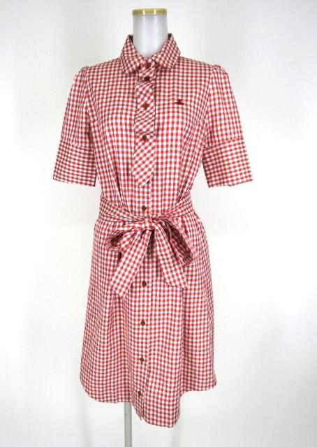 Vivienne Westwood RED LABEL ギンガムチェック柄半袖シャツワンピース