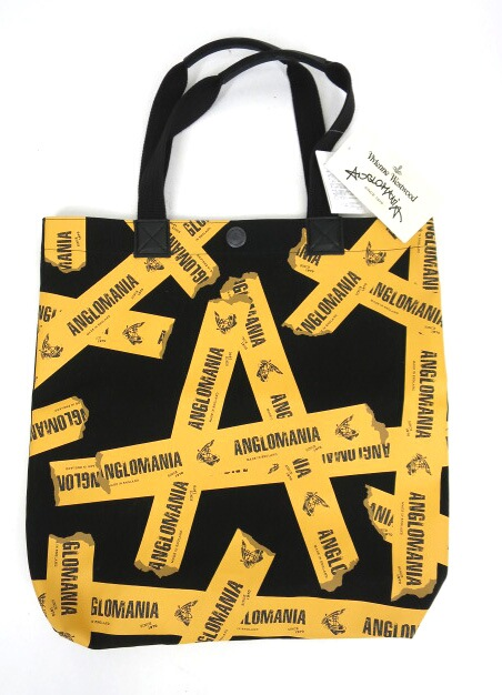 Vivienne Westwood ANGLOMANIA テープロゴ柄トートバッグ