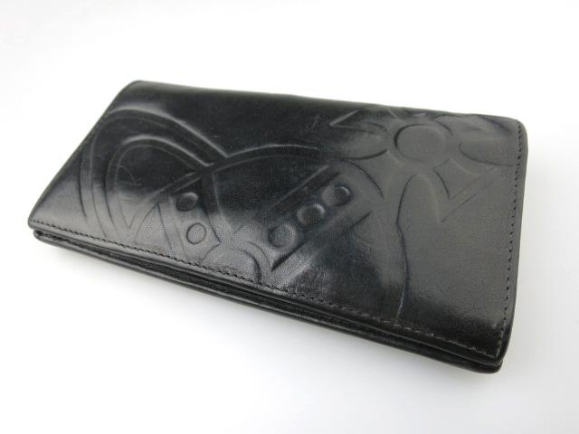 Vivienne Westwood オーブ型押しレザー長財布