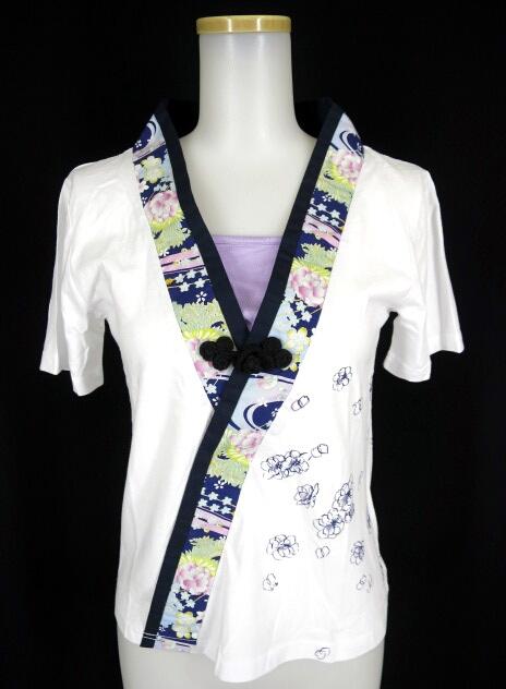 gouk雅 着物襟半袖カットソー