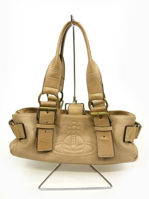 Vivienne Westwood アコード レザー浅型トートバッグ