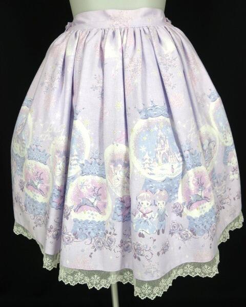 BABY, THE STARS SHINE BRIGHT 雪の女王~スノードームに秘めた「永遠」のカケラ~柄スカート
