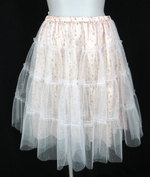 MILK ラメチュール重ね星柄スカート