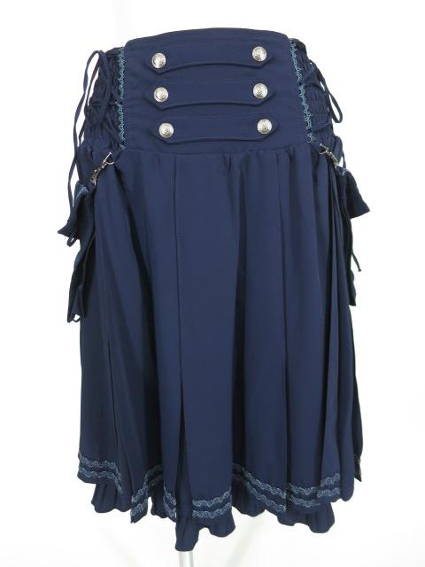 OZZ ONESTE サイドポケット付きプリーツスカート