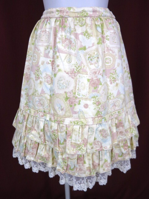Emily Temple cute ヴィクトリアンカード柄スカート
