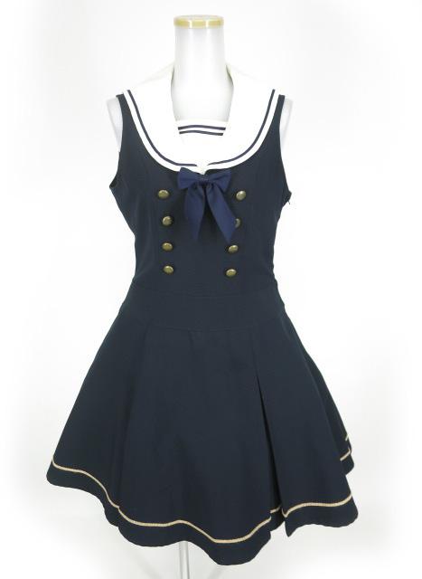 Innocent World 衿刺繍ボックスプリーツジャンパースカート
