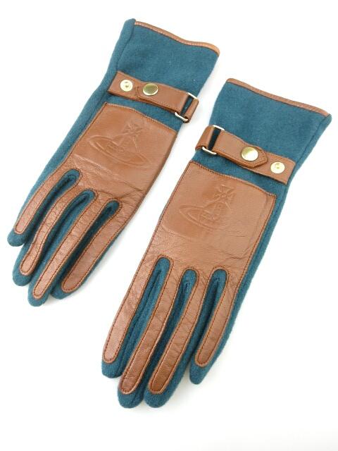 Vivienne Westwood ウール×レザーコンビ手袋