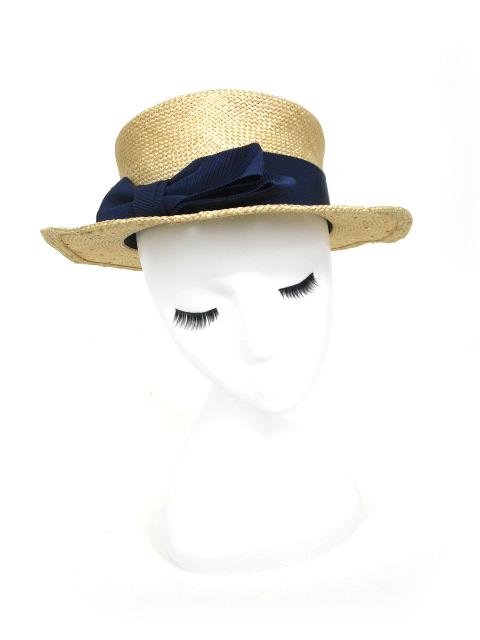 Jane Marple リボン付きストローハット