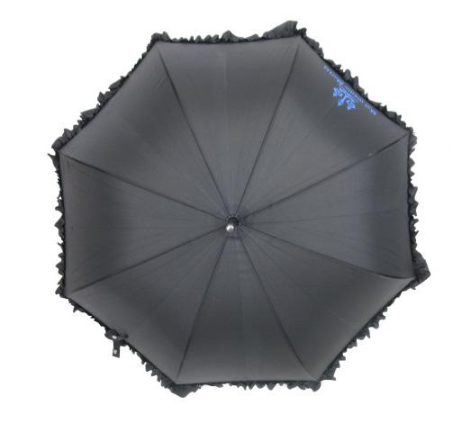 Moi-meme-Moitie 燭台ロゴ フリル付き傘