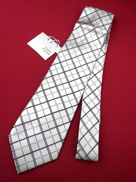 Vivienne Westwood オーブ&ダイヤチェック柄 ジャガード織りネクタイ