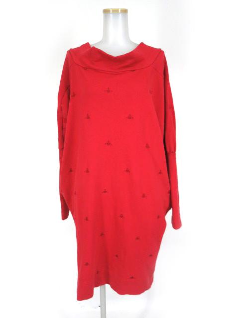 Vivienne Westwood RED LABEL オーブ刺繍柄ドルマンスウェットプルオーバー