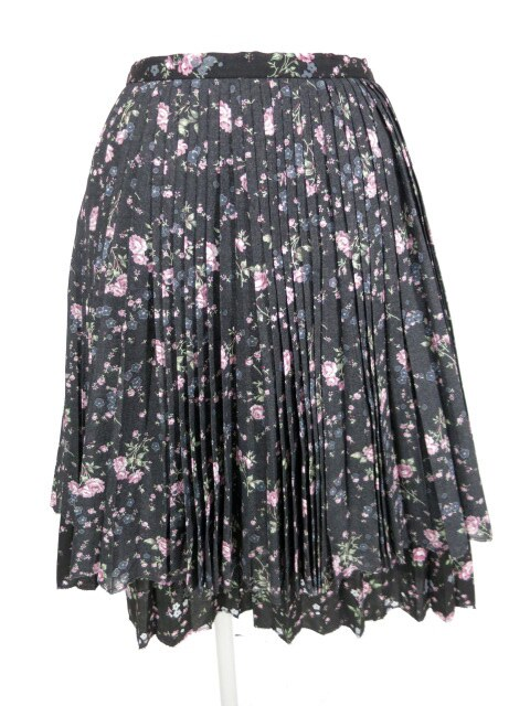 Jane Marple ローズ柄プリーツスカート