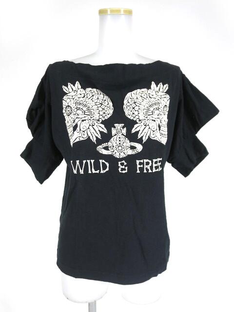 Vivienne Westwood RED LABEL フラワースカル&オーブプリント半袖カットソー