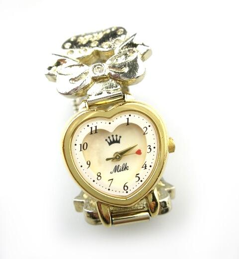 MILK リボンハート腕時計