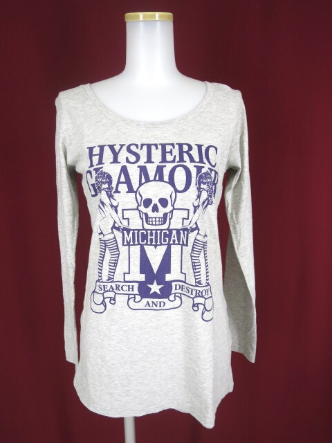 Hysteric Glamour スカル&ガールプリント長袖Tシャツ