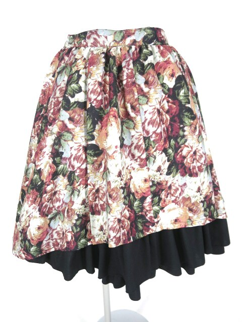 MIHO MATSUDA 裾フリル花柄スカート