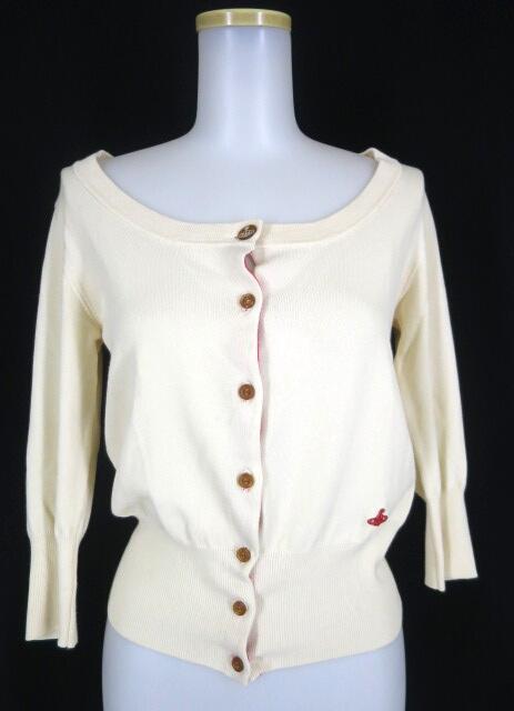 Vivienne Westwood RED LABEL オーブ刺繍七分袖カーディガン