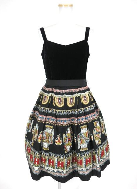 Jane Marple ベルベットとロイヤルトランプのドレス