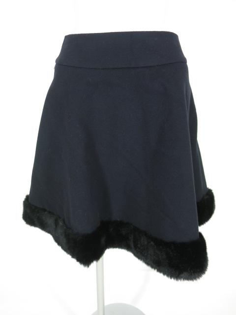 Jane Marple 裾ファー付きウールスカート