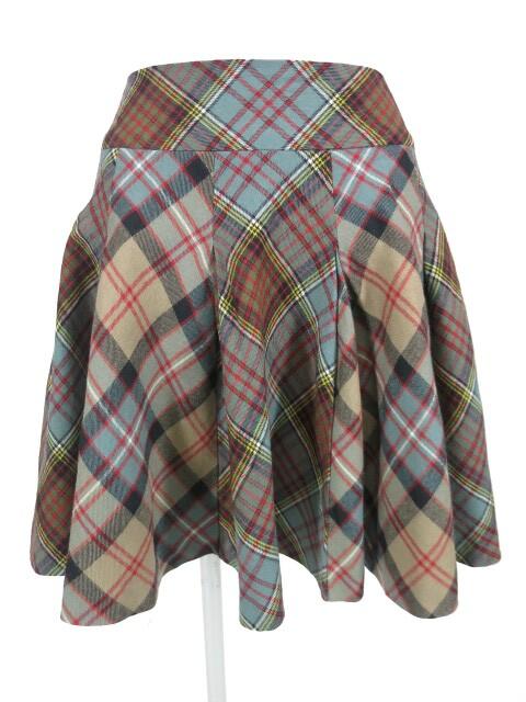 Jane Marple タータンチェックウールスカート