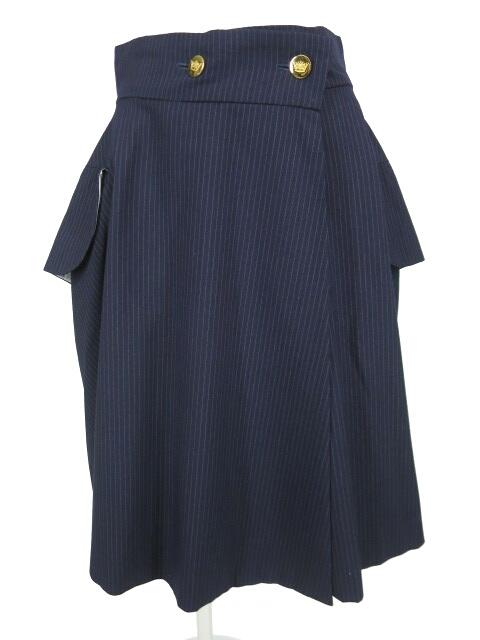 Vivienne Westwood ピンストライプ柄ライディングスカート
