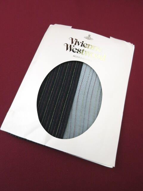 Vivienne Westwood ラメストライプ柄タイツ