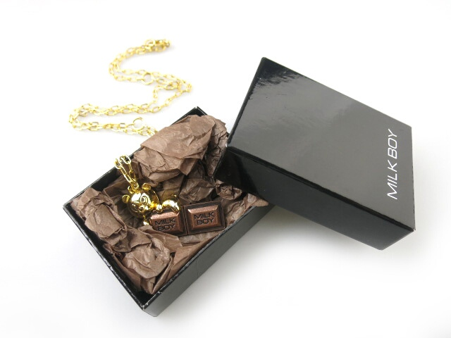 MILK BOY CHOCOLATE BEAR CHAIN ネックレス