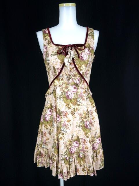 Victorian maiden ローズ柄ジャンパースカート