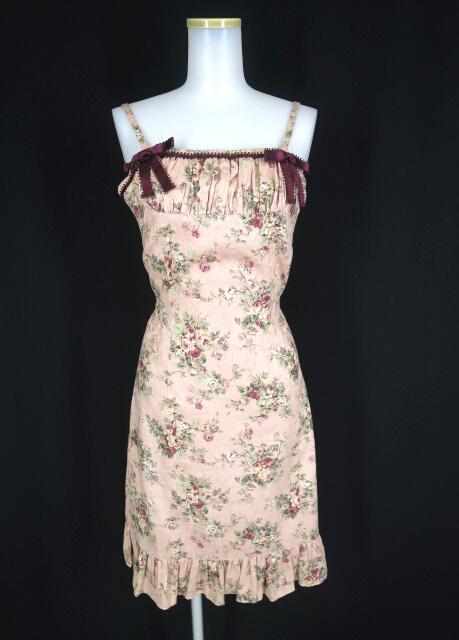 Victorian maiden ローズブーケゴブランプリントドレス