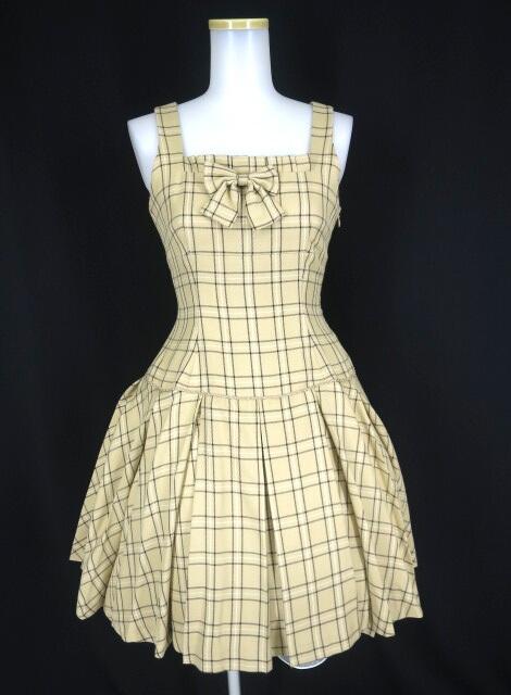 Victorian maiden チェック柄ボックスプリーツジャンパースカート