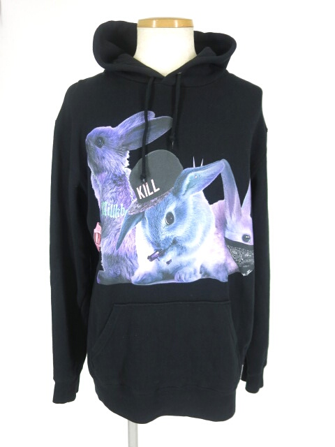 MILK BOY RIOT RABBITS HOODY パーカー