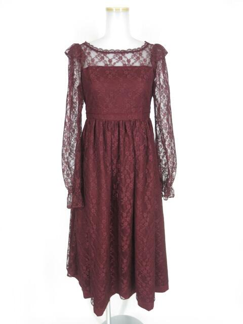Victorian maiden ローズレースフリルロングドレス