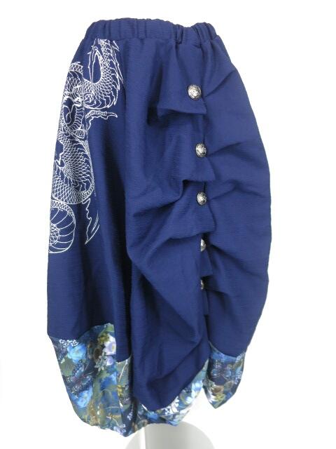 Qutie Frash 裾和柄切替バルーンスカート