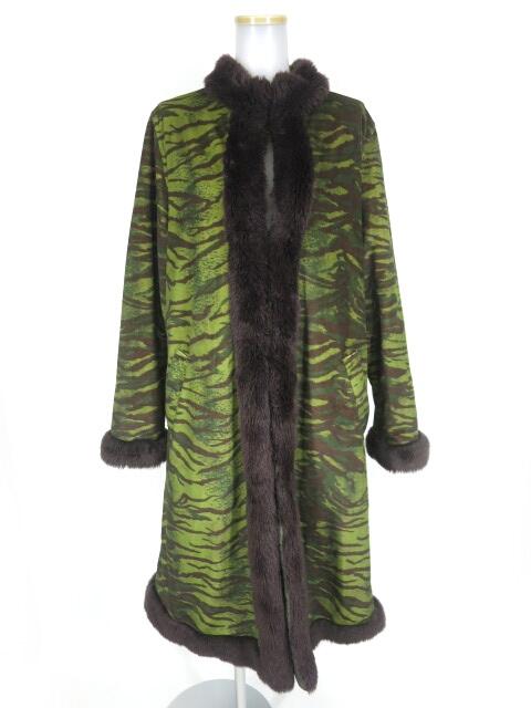 Gaultier Jean's タイガー迷彩 中綿入りロングコート