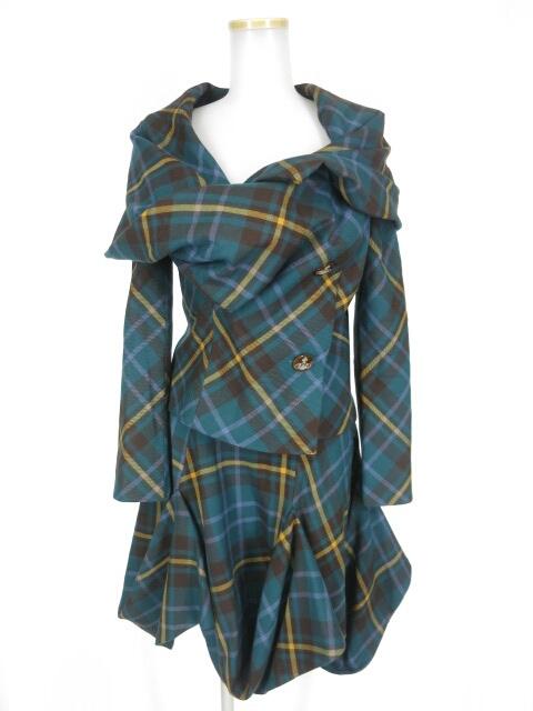 Vivienne Westwood RED LABEL タータンチェック柄ジャケット&スカート セットアップ