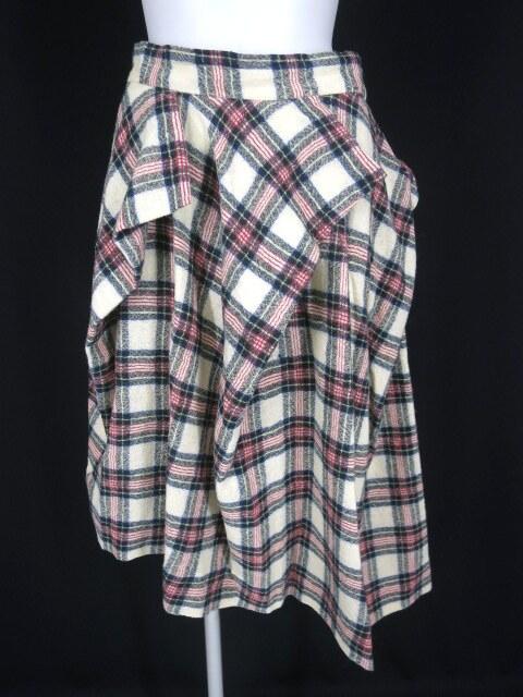 Vivienne Westwood RED LABEL チェック柄変形プリーツスカート