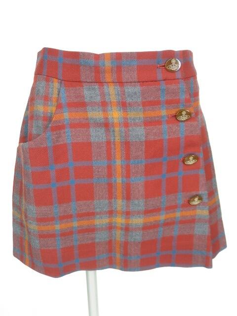 Vivienne Westwood RED LABEL チェック柄巻きスカート風ショートパンツ
