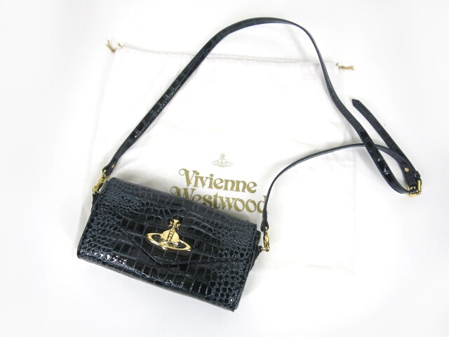 Vivienne Westwood NEW CHANCERY クロコ調バッグ